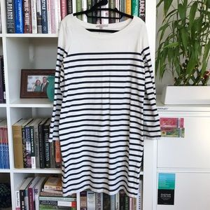 GAP Boatneck Navy Stripe Cotton Tee Dress